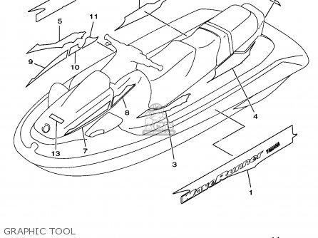 Yamaha WVT760V 1997 parts lists and schematics