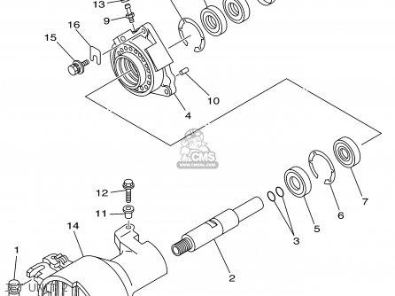 Yamaha Xa1200az 2001 parts list partsmanual partsfiche