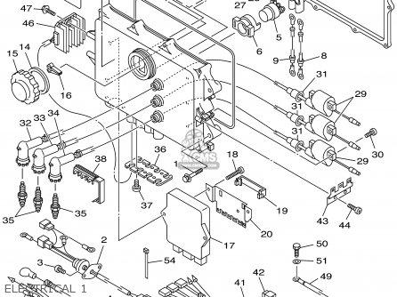 Yamaha Xa1200x 1999 parts list partsmanual partsfiche