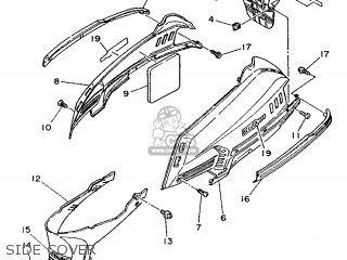 Yamaha XC125 1990 3TE1 GERMANY 203TE-332G2 parts lists and
