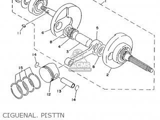 Yamaha Xc125 1996 4th1 Spain 264th-354s1 parts list