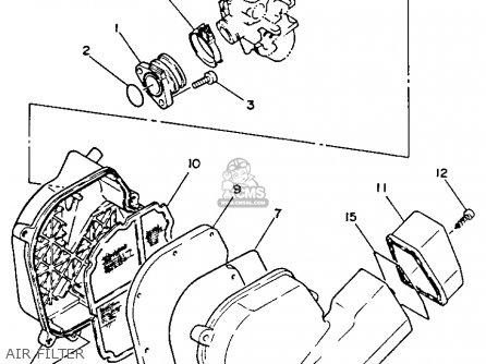 Yamaha Xc125e 1993 California Germany parts list