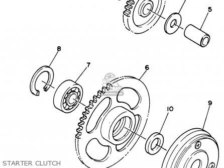 Yamaha Xc125j 1997 parts list partsmanual partsfiche