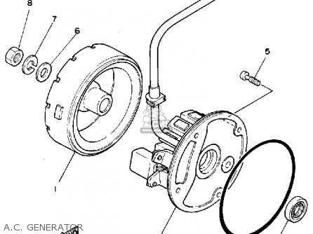 Yamaha Xc125n Riva 1985-1986 parts list partsmanual partsfiche