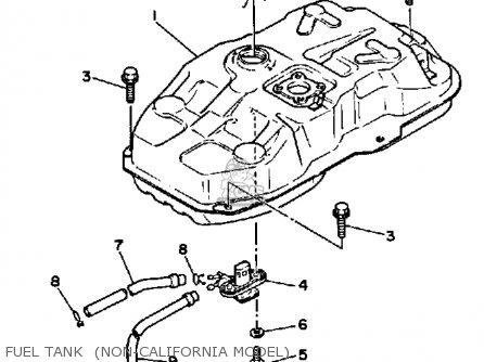 Yamaha XC125T 1987 RIVA USA EXCEPT CALIFORNIA parts lists