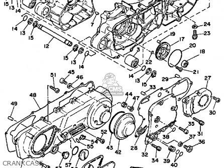 Yamaha Xc125t Riva 1987 Usa Except California parts list