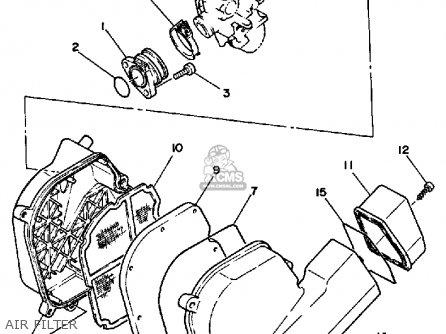 Yamaha Xc125tc 1987 Riva California parts list partsmanual