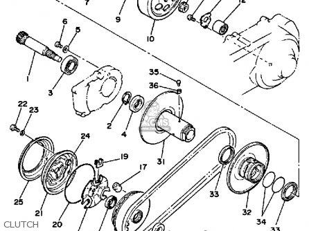 Yamaha Xc125tc Riva 1987 California parts list partsmanual
