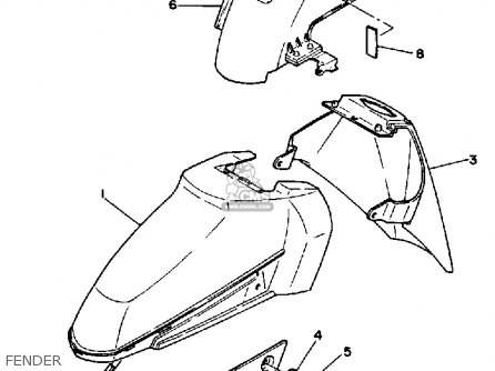 Yamaha Xc125w 1988/1989 parts list partsmanual partsfiche