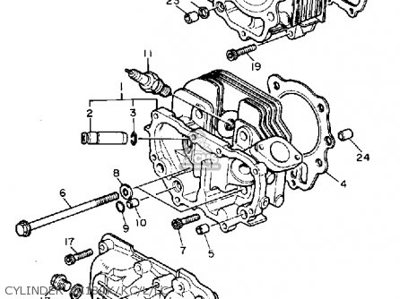Yamaha XC180K RIVA 1983 parts lists and schematics