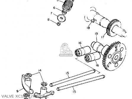 Yamaha Xc180k Riva 1983 parts list partsmanual partsfiche