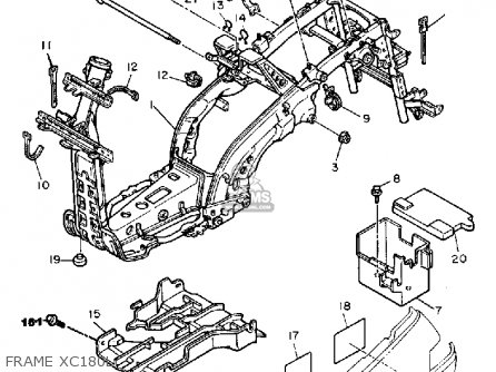 Yamaha Xc180l Riva 1983/1984 parts list partsmanual partsfiche
