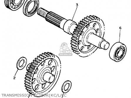 Yamaha Xc180l Riva 1984 parts list partsmanual partsfiche