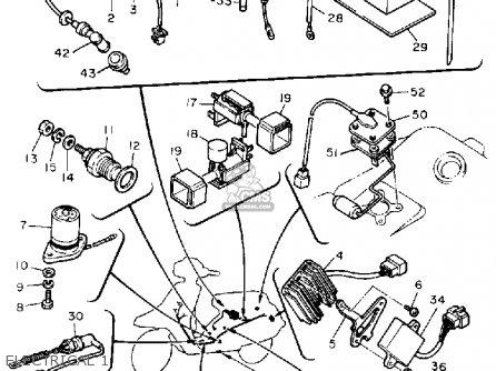 Yamaha Xc180zl Riva 1984 parts list partsmanual partsfiche