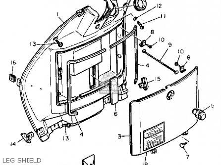 Yamaha XC180ZL RIVA 1984 parts lists and schematics
