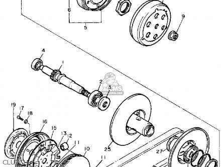 Yamaha XC200T RIVA 1987 CALIFORNIA parts lists and schematics