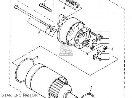 Yamaha Xc200t Riva 1987 California parts list partsmanual