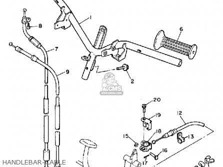 Yamaha Xc200t Riva 1987 parts list partsmanual partsfiche