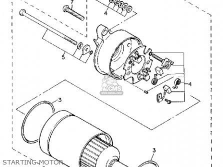 Yamaha XC200ZCT 1987 RIVA CALIFORNIA parts lists and