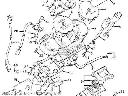 Yamaha Xj1100 Maxim 1982 (c) Usa parts list partsmanual