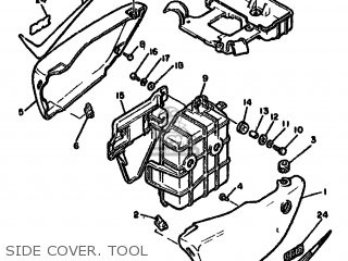 Yamaha XJ550 1981 4V8 EUROPE 214V8-300E1 parts lists and
