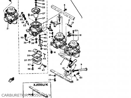 Yamaha Xj550 Seca 1981 (b) Usa parts list partsmanual