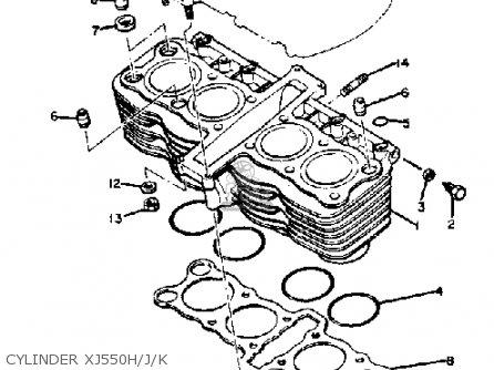 Yamaha Xj550 Seca 1983 (d) Usa parts list partsmanual