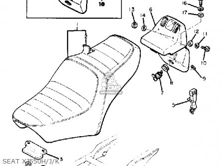 Yamaha XJ550 SECA 1983 (D) USA parts lists and schematics