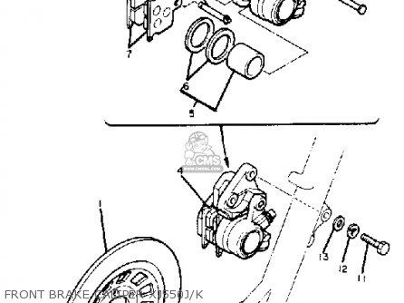 Yamaha Xj550j 1981-1983 parts list partsmanual partsfiche