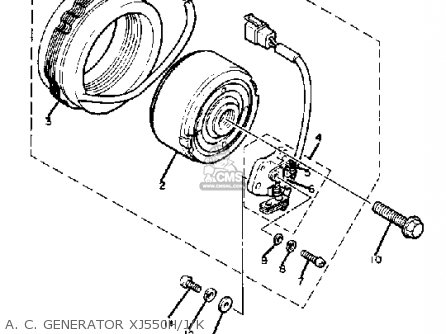 Yamaha Xj550k 1981-1983 parts list partsmanual partsfiche