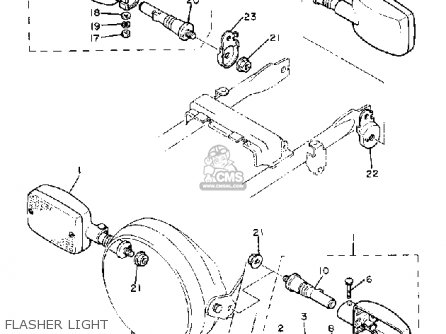 Yamaha Xj550r Seca 1981 (b) Usa parts list partsmanual
