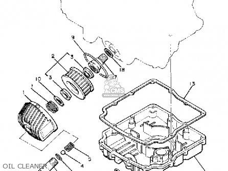 Yamaha XJ550R SECA 1981 (B) USA parts lists and schematics