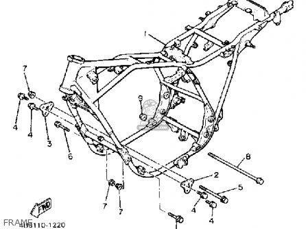 Yamaha Xj550r Seca 1982 (c) Usa parts list partsmanual