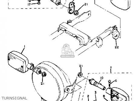 Yamaha XJ550R SECA 1983 (D) USA parts lists and schematics