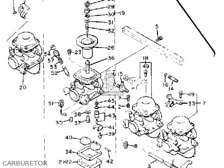 Yamaha Xj550rj 1982 parts list partsmanual partsfiche