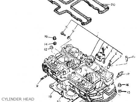 Yamaha Xj550rk Seca 1983 parts list partsmanual partsfiche