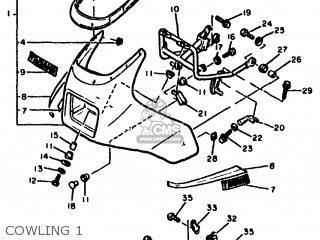Yamaha Xj600 1984 51j Europe 2451j-300e1 parts list
