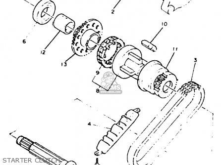 Yamaha Xj600s Seca Ii 1992 (n) Usa parts list partsmanual
