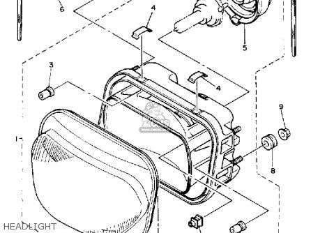 Yamaha Xj600s Seca Ii 1993 (p) Usa parts list partsmanual