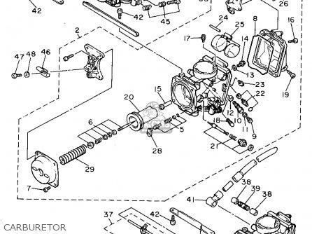 Yamaha Xj600s Seca Ii 1995 (s) Usa parts list partsmanual