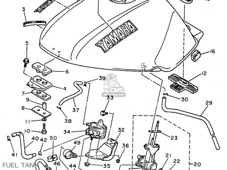 Yamaha XJ600S XJ600SC SECA II 1997 (V) USA CALIFORNIA