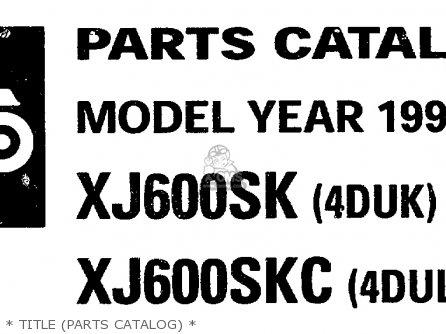Yamaha Xj600s Xj600sc Seca Ii 1998 (w) Usa California
