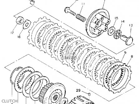 Yamaha Xj600sc Seca Ii 1993 (p) California parts list