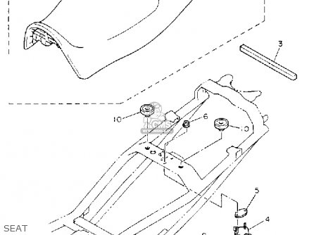 Yamaha XJ600SC SECA II 1993 (P) CALIFORNIA parts lists and