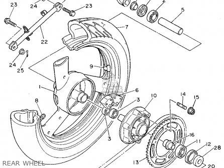 Yamaha XJ600SC SECA II 1995 (S) CALIFORNIA parts lists and