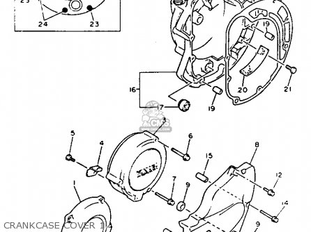 Yamaha Xj600sd Seca Ii 1992 parts list partsmanual partsfiche