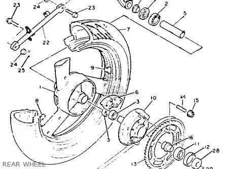 Yamaha Xj600sd Seca Ii 1992 parts list partsmanual partsfiche