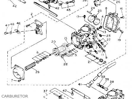 Yamaha Xj600sec Seca Ii 1993 parts list partsmanual partsfiche