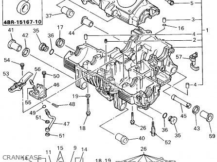 Yamaha Xj600sfc 1994 parts list partsmanual partsfiche