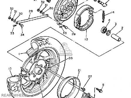 Yamaha XJ650 MAXIM 1981 (B) USA parts lists and schematics